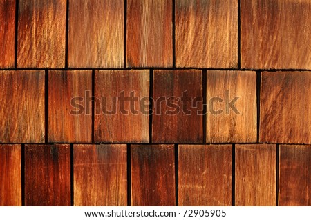 weathered cedar shakes - stock photo