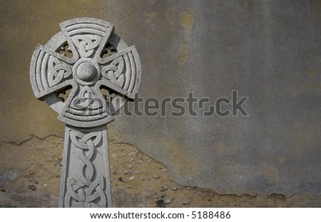 weathered celtic cross
