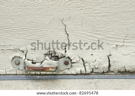 Weathered Door - stock photo