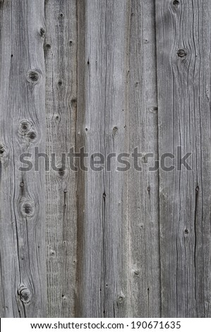 Weathered grey wooden background with vertical boards