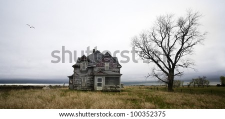 Weathered Homestead - stock photo