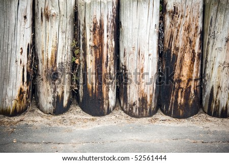 weathered logs wall wood background