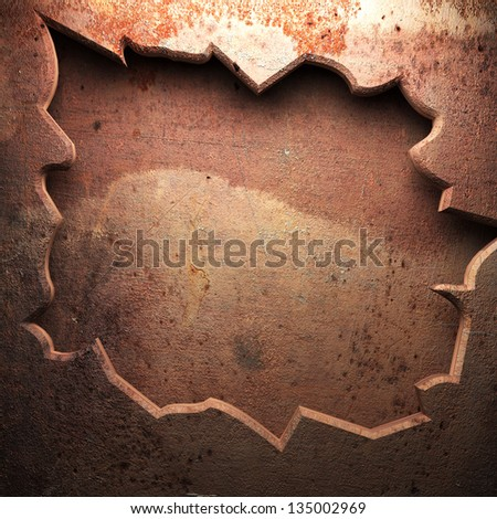 weathered metal background