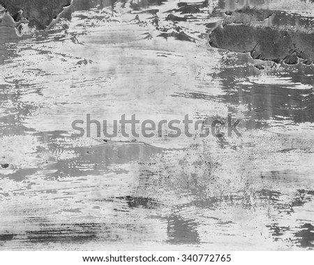 weathered metal background - gray scale - stock photo