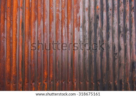 Weathered metal home walls vintage and rusted - stock photo