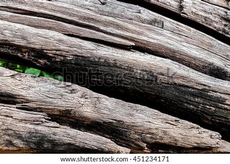 Weathered obsolete cracked textured wooden grunge background - stock photo