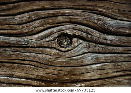 Weathered obsolete cracked textured wooden grunge background - stock photo
