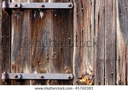Antique Rusty Medieval Castle Skeleton Door Stock Photo