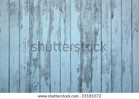 Weathered old blue wooden wall useful as texture or backgrounds - stock photo