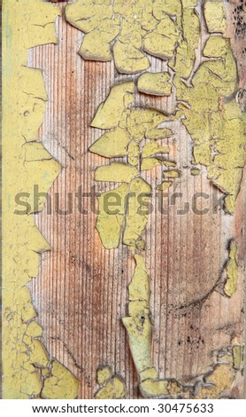 Weathered old painted wood
