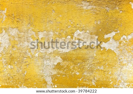 Weathered old stucco wall in Florence - closeup background, texture - stock photo