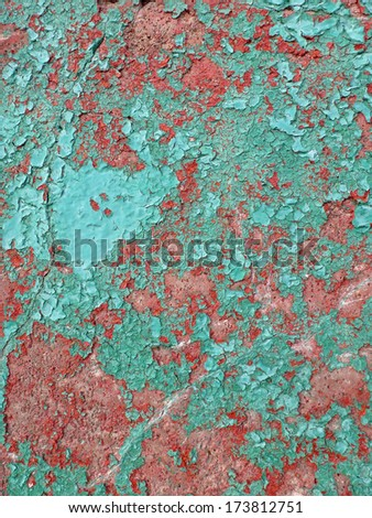 Weathered Painted Exterior Surface - stock photo