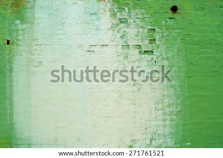 weathered painted wall - stock photo