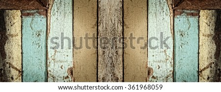 weathered painted wood planks background  - stock photo