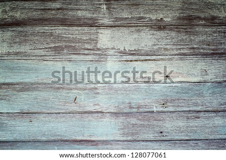 weathered painted wooden plank - stock photo