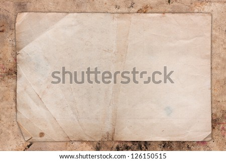 Weathered paper background - stock photo