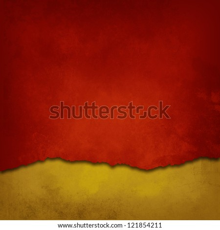 Weathered Red and gold background - stock photo