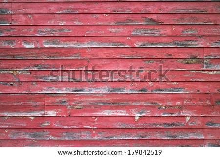 Weathered Red Barn Wall Background - stock photo