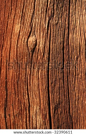 weathered red splitting pine wood trunk background texture - stock photo