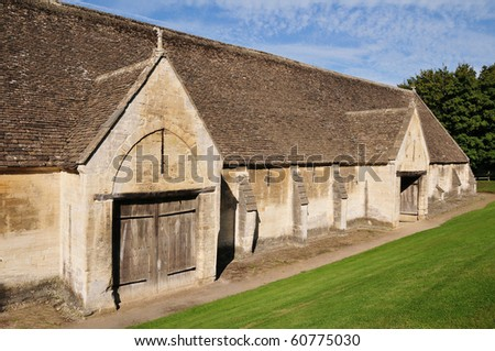 Weathered Stone Barn - stock photo