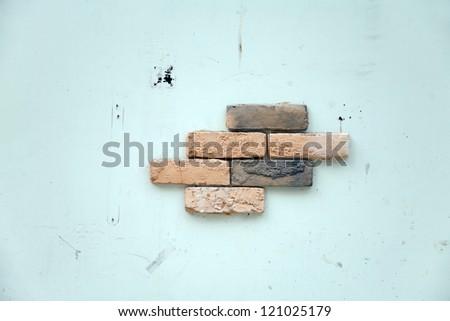 weathered wall/brick wall - stock photo