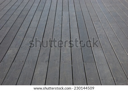 Weathered wooden floor lining. Outdoors. - stock photo