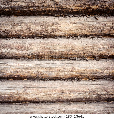 Weathered wooden logs texture, grunge background  - stock photo