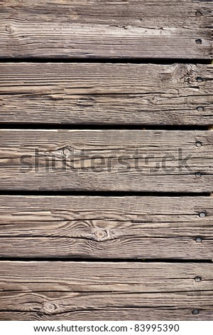 Weathered wooden planks surface, antique background - stock photo