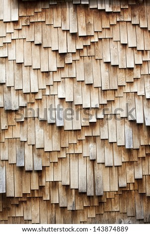 Weathered wooden shingles texture