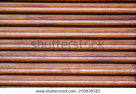 Weathered wooden ventilation louvers - stock photo