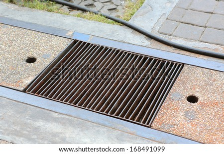 Weathering for water in a court - stock photo