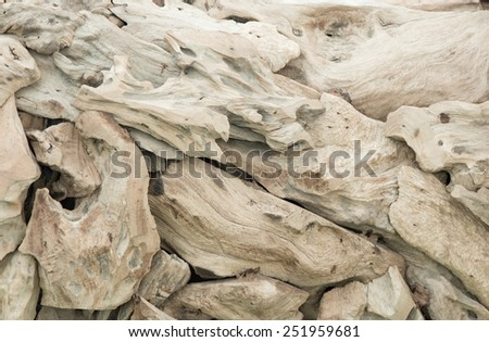 weathering made various texture of wood - stock photo