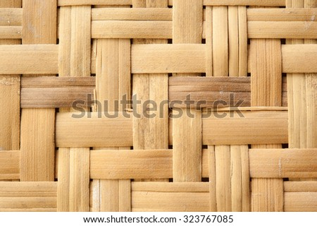 weave bamboo wood pattern for background - stock photo