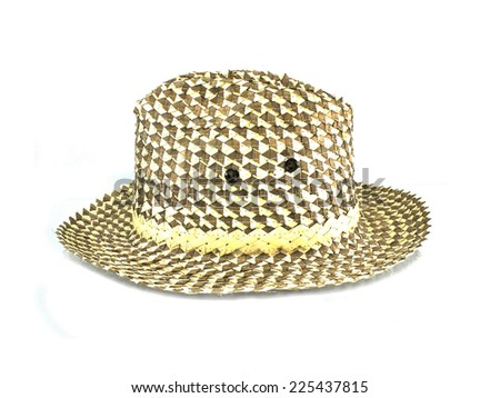 Weave hat,a hat made of bamboo on white background