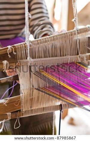 Weave homemade - stock photo