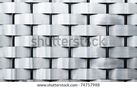 Weave iron fence texture - stock photo