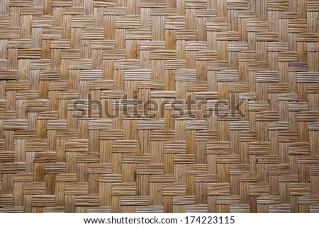 weave mat, Thai Asia style wallpaper texture of weave mat  - stock photo