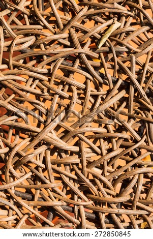 weave texture natural rattan for background - stock photo