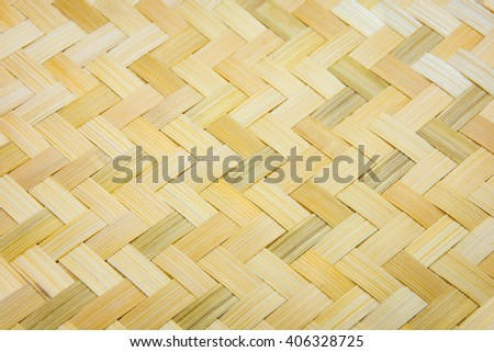 weave texture natural wicker - stock photo