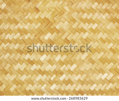 weaved bamboo craft by handmade, pattern texture background - stock photo