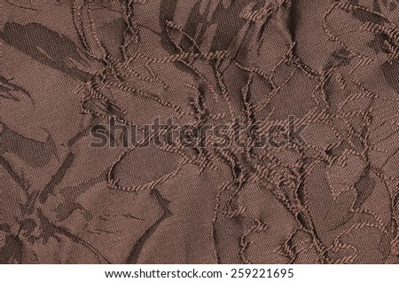 Weaved textile with flowery pattern and colors / Weaved fabric / Suitable for dressmaking, apparel wear and general purpose - stock photo