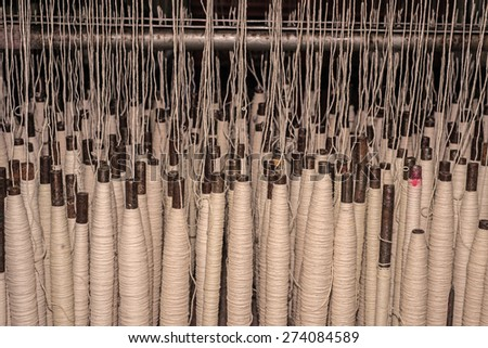 Weaving and warping - stock photo