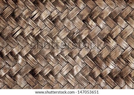 Weaving bamboo background - stock photo