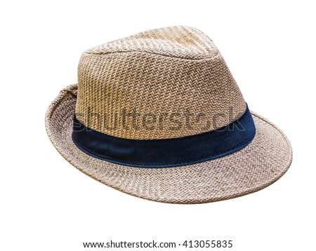 Weaving hat isolated on white background. with clipping path.