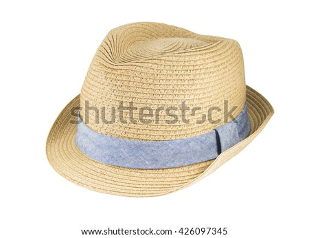 Weaving hat with clipping path isolated on white background.
