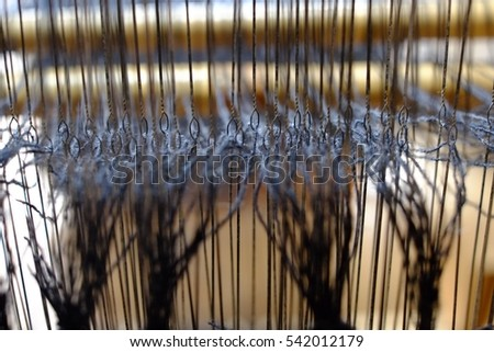 Weaving work. Our job is weaving. This picture is a picture of our workshop.