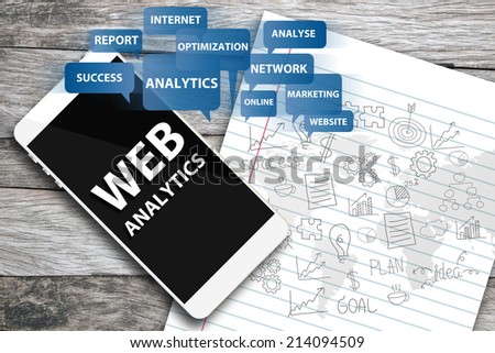 Web analytics. Business concept.