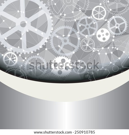 Web and mobile interface graphic template. Corporate website design. Media background. Editable. Industry and technology concept - stock photo