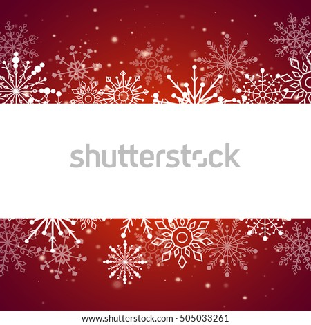 Web banner with snowflakes.  illustration