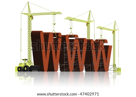 web building under construction internet maintenance of webpage internet site or www website building web red text